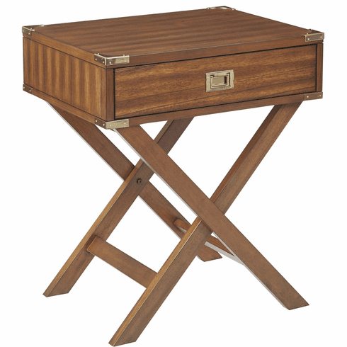 OSP Designs Wellington Side Table Toasted Wheat [WEL1392-TW]