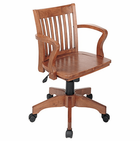 OSP Designs Wood Bankers Desk Chair [105FW]
