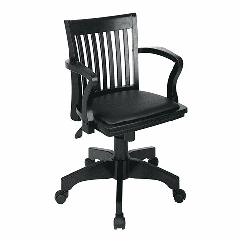 OSP Designs Wooden Black Bankers Chair [108BLK-3]
