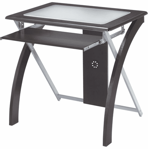 OSP Designs X-Text Computer Desk with Frosted Glass [XT59ES]