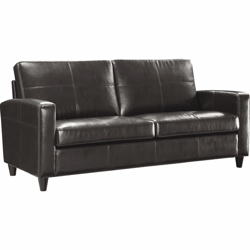 OSP Furniture® Espresso Bonded Leather Sofa Espresso Legs [SL2813-EC1]