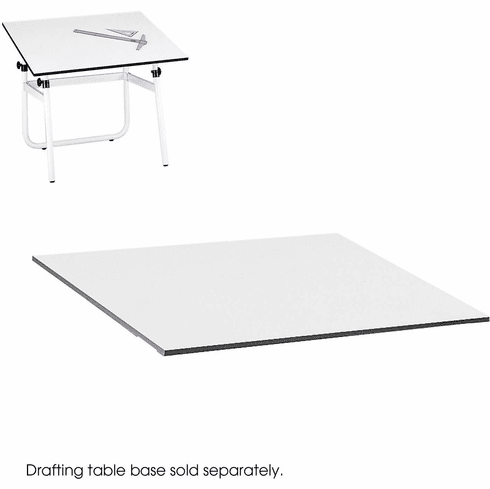 PlanMaster Height-Adjustable Folding Tabletop White [3951]
