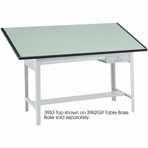 "Precision Table Top 72 x 37 1 / 2"" Green Tinted [3953]"