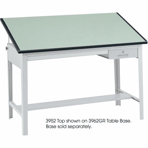 "Precision Tabletop 60 x 37 1 / 2"" Green Tinted [3952]"