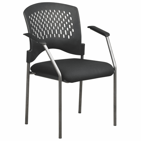Pro Line II Titanium Finish Black Stacking Chair [8610-30]