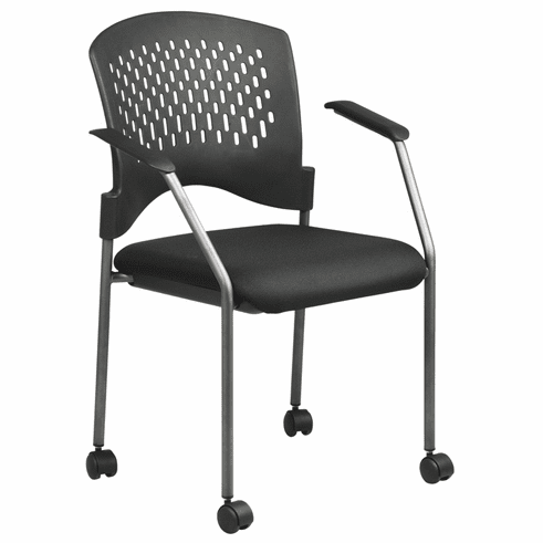 Pro Line II Titanium Finish Rolling Stacking Chair [8640-30]