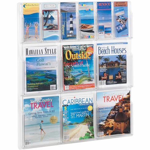 Reveal™ 6 Magazine and 6 Pamphlet Display [5606CL]