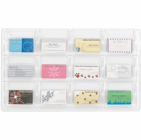 Reveal™ Business Card Display !2 Card Organizer [5618CL]