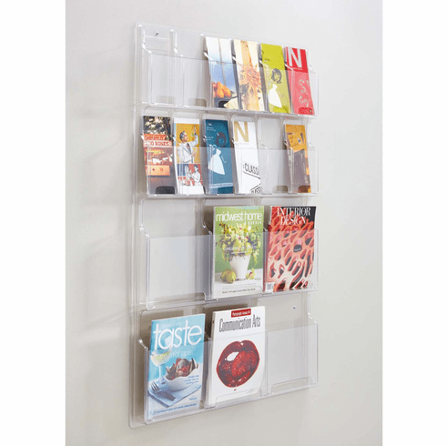 Reveal™ Literature Organizer Display 6 Magazine and 12 Pamphlet [5600CL]