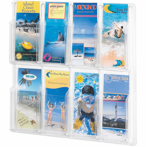 Reveal™ Literature Organizer Display 8 Pamphlet [5608CL]