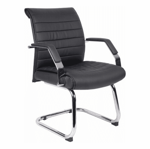 Ribbed Sled Base Boss Guest Chair [B9449]