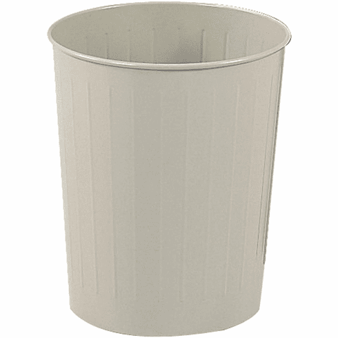 Round Trash Can 23 1 2 Quarts Tan Set Of 6 9604sa