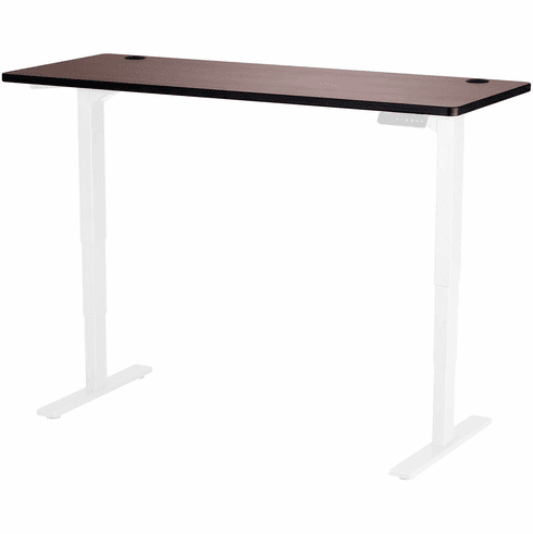 "Safco Electric Height-Adjustable Table Top 60"" x 24"" Cherry [1890CY]"