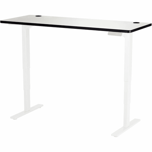 "Safco Electric Height-Adjustable Table Top 60"" x 24"" Gray [1890GR]"