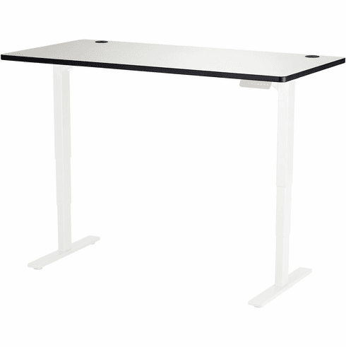 "Safco Electric Height-Adjustable Table Top 60"" x 30"" Gray [1892GR]"