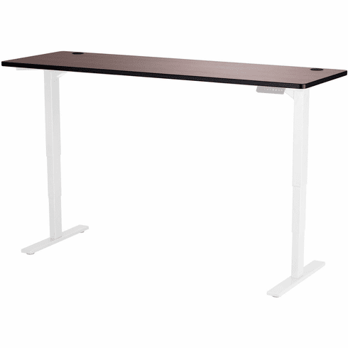 "Safco Electric Height-Adjustable Table Top 72"" x 24"" Cherry [1891CY]"