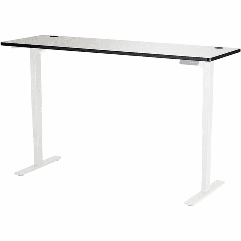 """Safco Electric Height-Adjustable Table Top 72"""" x 24"""" Gray [1891GR]"""