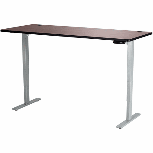"""Safco Electric Height-Adjustable Table Top 72"""" x 30"""" Cherry [1893CY]"""