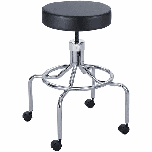 Safco® Lab Stool High Base Screw Lift Black [3433BL]