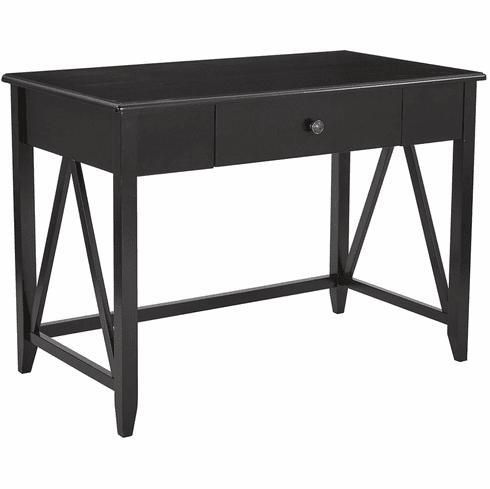 Santa Cruz Writing Desk in Black Finish [STCZ25-BK]