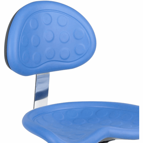 SitStar™ Stool with Back Blue [6661BU]