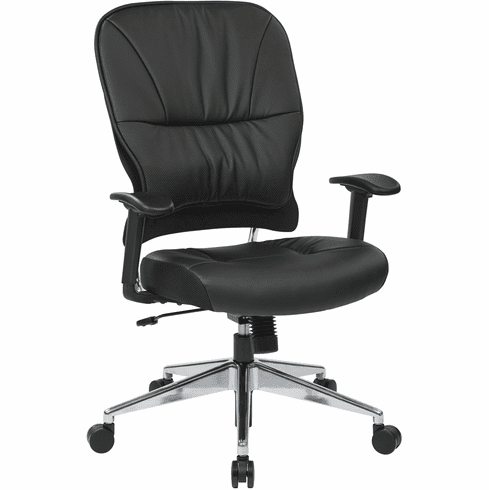 Space Seating® Black Bonded Leather Managers Chair [32-E33P918P]
