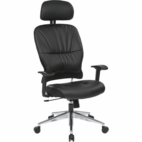 Space Seating® Black Eco Leather Managers Chair [32-E33P918PHL]