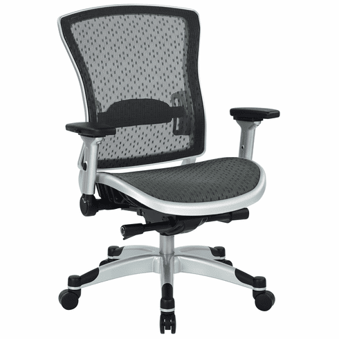 Space Seating Executive Breathable Mesh Back Chair with Flip Arms [317-R22C6KF6]