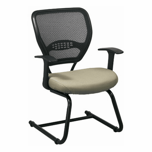 Space Seating Mesh Guest Chair with Fabric Seat [55-7V30]