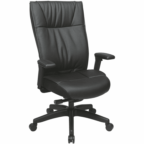 Space Seating Top Grain Leather Executive Office Chair [9370-55NC17U]