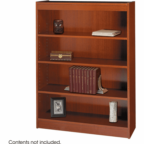 Square-Edge Veneer Bookcase 4 Shelf Cherry [1503CYC]