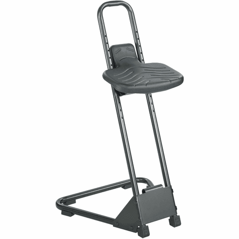 Stand Alone Stool Adustable-Height Black [5126]