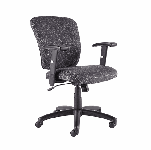 Talira Swivel / Tilt Task Chair with Adjustable Arms, Black [TL200FBK]