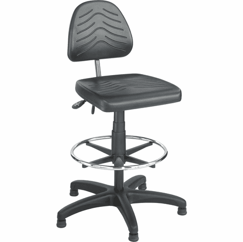 Task Master® Deluxe Workbench Chair Polyurethane Black [5113]