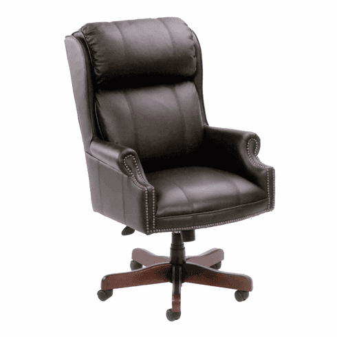 Traditional Wing Back Tufted Office Chair [B980]