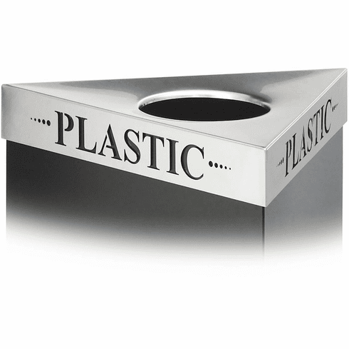 Trifecta® Recycling Trash Can Lid Plastic [9560PC]