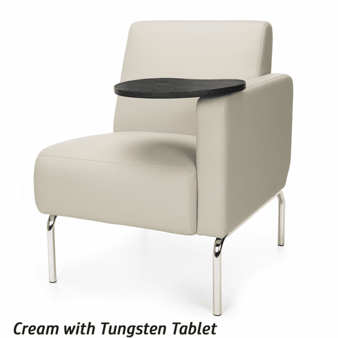 Awe Inspiring Triumph Left Arm Modular Lounge Chair With Tablet 3001Lt Ibusinesslaw Wood Chair Design Ideas Ibusinesslaworg