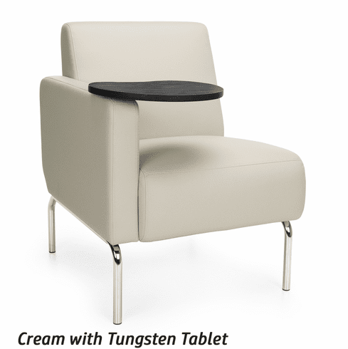 Sensational Triumph Right Arm Modular Lounge Chair With Tablet 3001Rt Ibusinesslaw Wood Chair Design Ideas Ibusinesslaworg