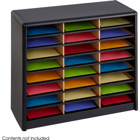 Value Sorter® Literature Organizer 24 Compartment Black [7111BL]