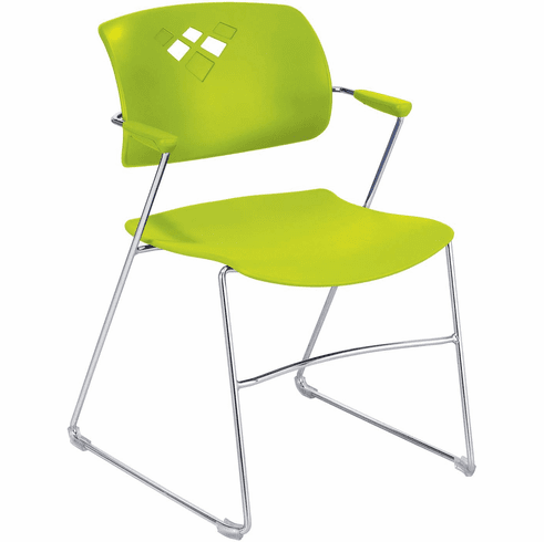 Veer™ Stack Chair Flex Frame Grass Green Set of 4 [4286GS]