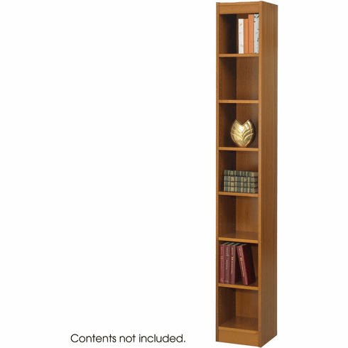 "Veneer Baby Bookcase 7 Shelf 12""W Medium Oak [1514MOC]"