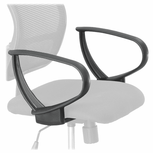 Vue™ Extended-Height Mesh Chair Loop Arms Set [3396BL]