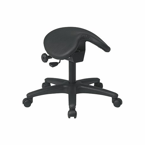 Work Smart Backless Saddle Stool with Adjustable Seat [ST203]