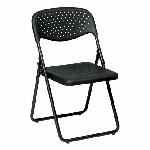 Pleasing Work Smart Black Metal Frame Folding Chairs Fc8000Np Machost Co Dining Chair Design Ideas Machostcouk