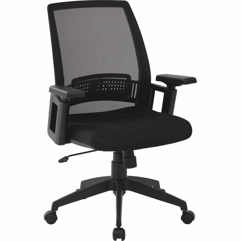 Work Smart™ Black Office Arm Chair Adjustable Height [SPX61522-3]