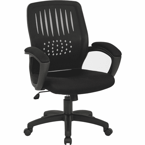 Work Smart™ Black Screen Back Over Designer Shell Chair [EM59722-3]