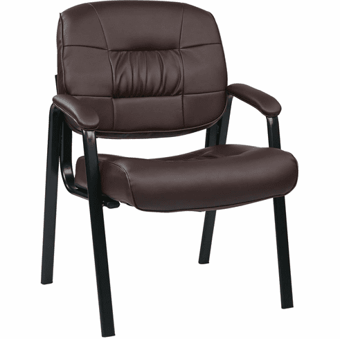 Work Smart™ Bonded Leather Visitors Chair Burgundy [EC8124-EC4]