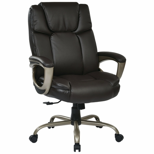 Work Smart™ Eco Leather Big and Tall Executive Chair [ECH12801-EC1]