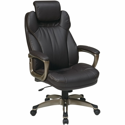 Work Smart Eco Leather Executive Chair with Headrest [ECH85801-EC1]