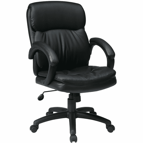 Work Smart Eco Leather Mid Back Executive Chair [EC9231]